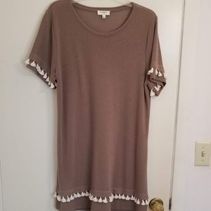 Light brown Tassel Tunic